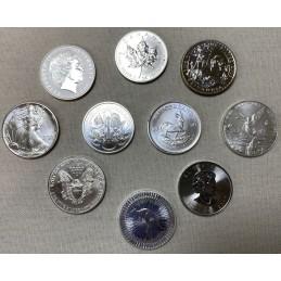 Lot 5 pièces Once Argent