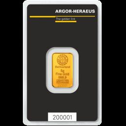 LINGOT OR 5 gr HERAEUS