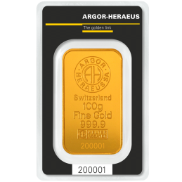 LINGOT OR 100 gr HERAEUS
